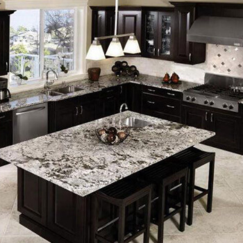 newly installed kitchen granite