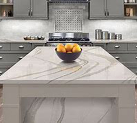 quartz kitchen island