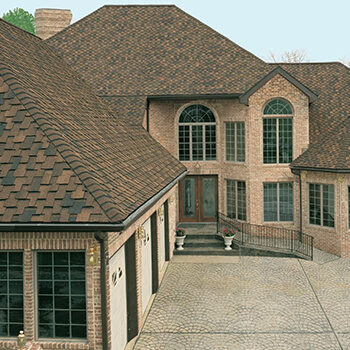 new roof on large house